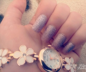 flower, nails, and tumblr image