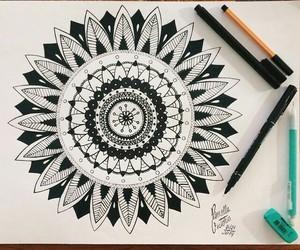 mandala, art, and drawing image