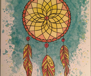 abstract, art, and dream catcher image