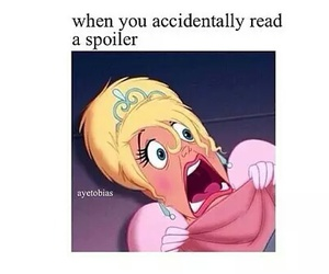 spoiler, funny, and book image