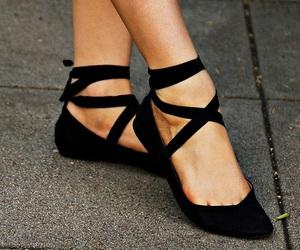 ballet flats, black, and fashion image
