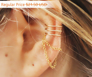 ear cuffs, fake piercing, and etsy image
