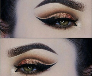 golden, perfect, and makeup image