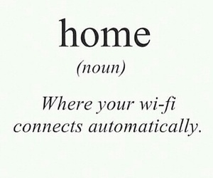 home, wifi, and significado image