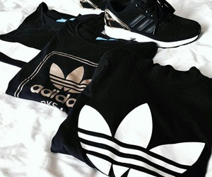 adidas, love, and black and white image