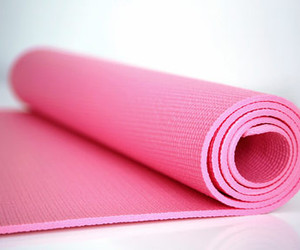 pink, yoga, and fitness image