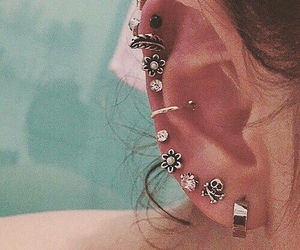 ear, fashion, and flower image