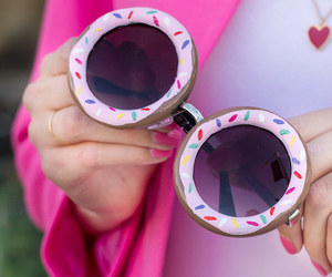 donuts, sunglasses, and pink image
