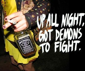 jack daniels, demon, and night image