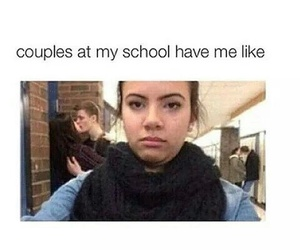 couple, school, and funny image