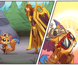 leona, gnar, and league of legends image