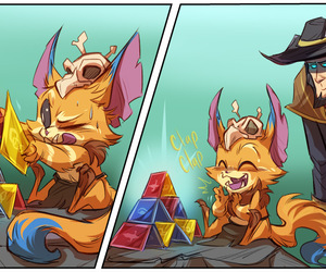 gnar, league of legends, and twisted fate image