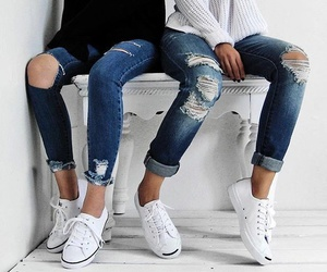 fashion, jeans, and style image