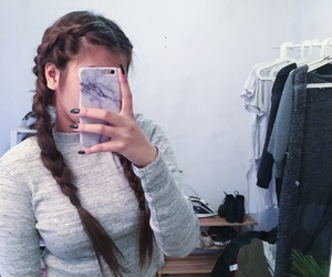 asian, braids, and grey image