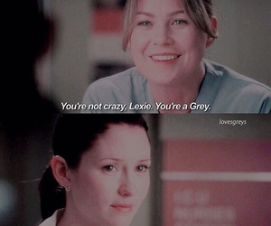 grey's anatomy, meredith grey, and lexie grey image