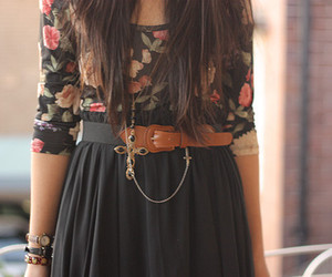 belt, fashion, and floral image