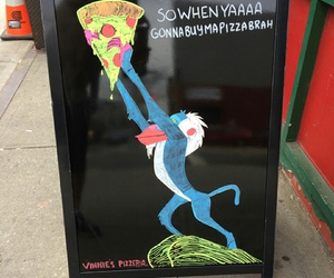 pizza, funny, and lion king image