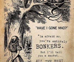 alice in wonderland, quotes, and mad image