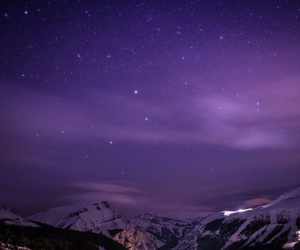 mountains, stars, and nature image