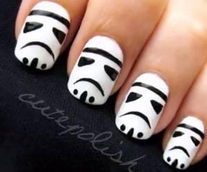 nails, star wars, and nail art image
