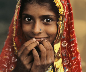 children, girl, and indian image