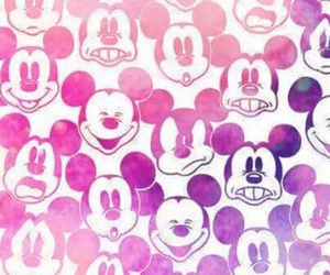 mickey, roxo, and rosa image