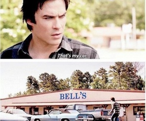 the vampire diaries, car, and damon salvatore image