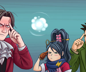 ace attorney, dick gumshoe, and kay faraday image