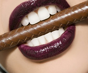autumn, chocolate, and lips image