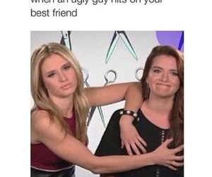 funny, faking it, and friends image