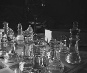 black, chess, and white image