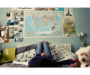 bedroom and map image