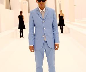blue, man, and fashion image