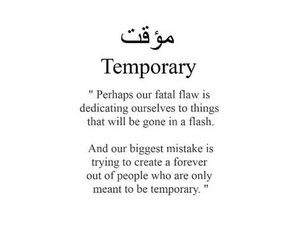 temporary and quote image