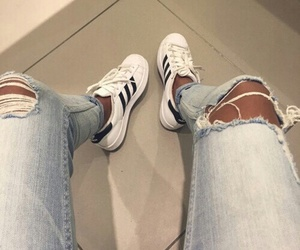 adidas, jeans, and style image