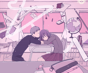 couples, kawaii, and love image