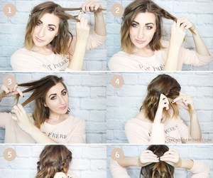hair, hairstyles, and شعر image