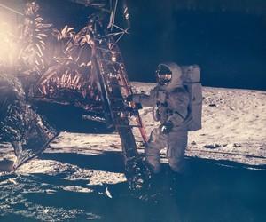 cosmic, moon, and cosmonaut image