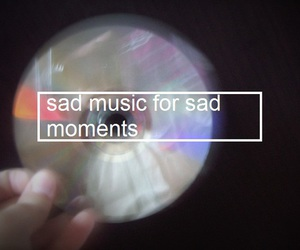 music, sad, and moment image