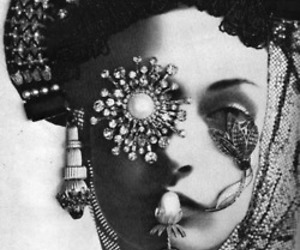 art, black and white, and pearls image