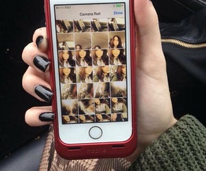 black nails, iphone 5s, and tumblr image