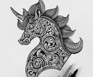 art, details, and horse image