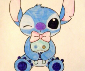 stitch, disney, and drawing image