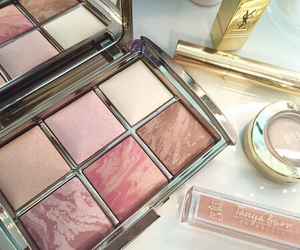 makeup, fashion, and blush image