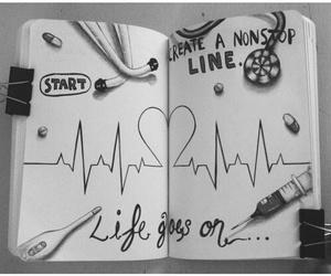 drawing, life, and art image