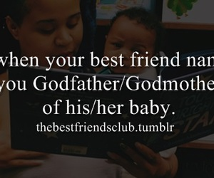 baby, best friend, and godfather image