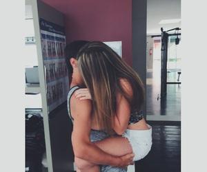 couple, girl, and gym image