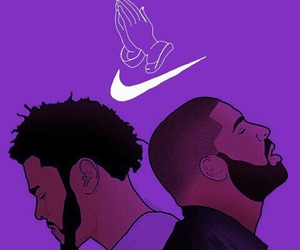 Drake, nike, and j.cole image