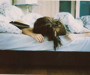 bed, girl, and photo image