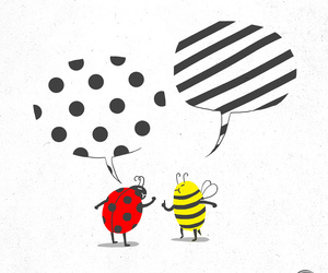 bee, ladybug, and drawing image